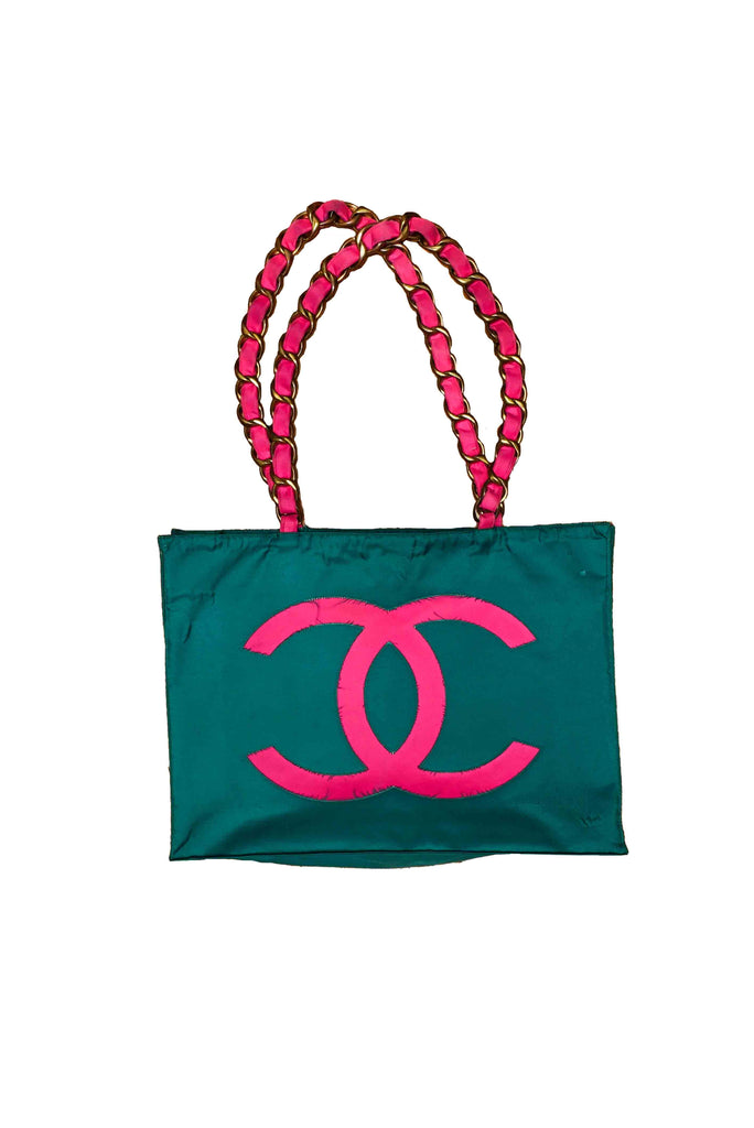 """VINTAGE"" // CHANEL // JUMBO-CHAIN // ""NYLON"" // TOTE-BAG // AUTHENTIC"