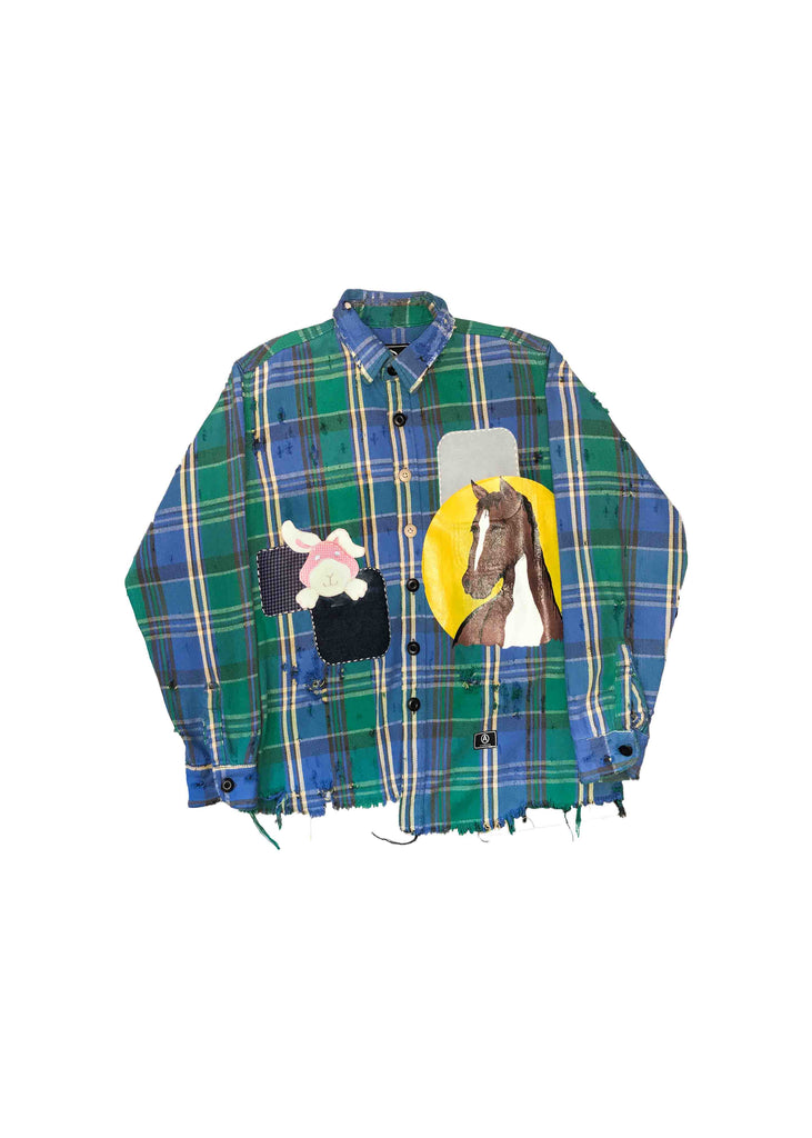 FLANNEL // ANIMAL PATCHES // S