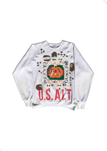 GUCCI X BAPE HEAT TRANSFER // CREW NECK