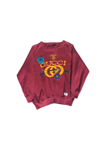 GUCCI // BURGUNDY CREW NECK