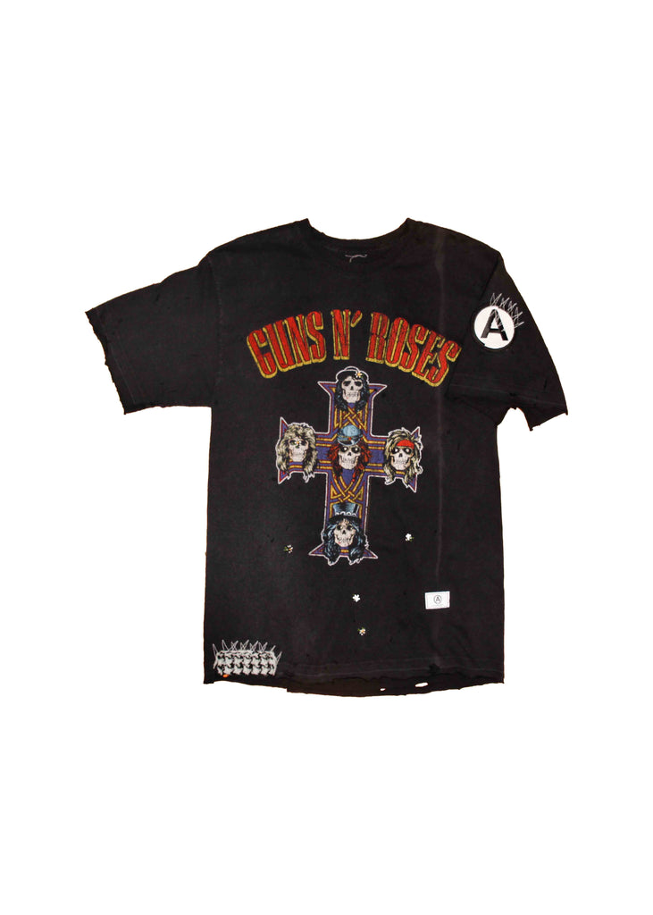 VINTAGE // GUNS N ROSES // CONCERT TEE WITH CUSTOM DESIGN