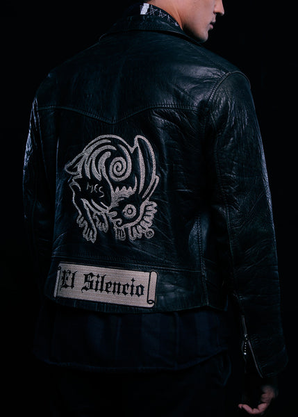 El Silencio Vintage Biker Leather Jacket