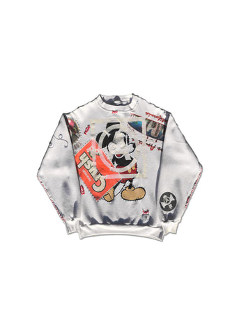VINTAGE WHITE MICKEY MOUSE CREW NECK