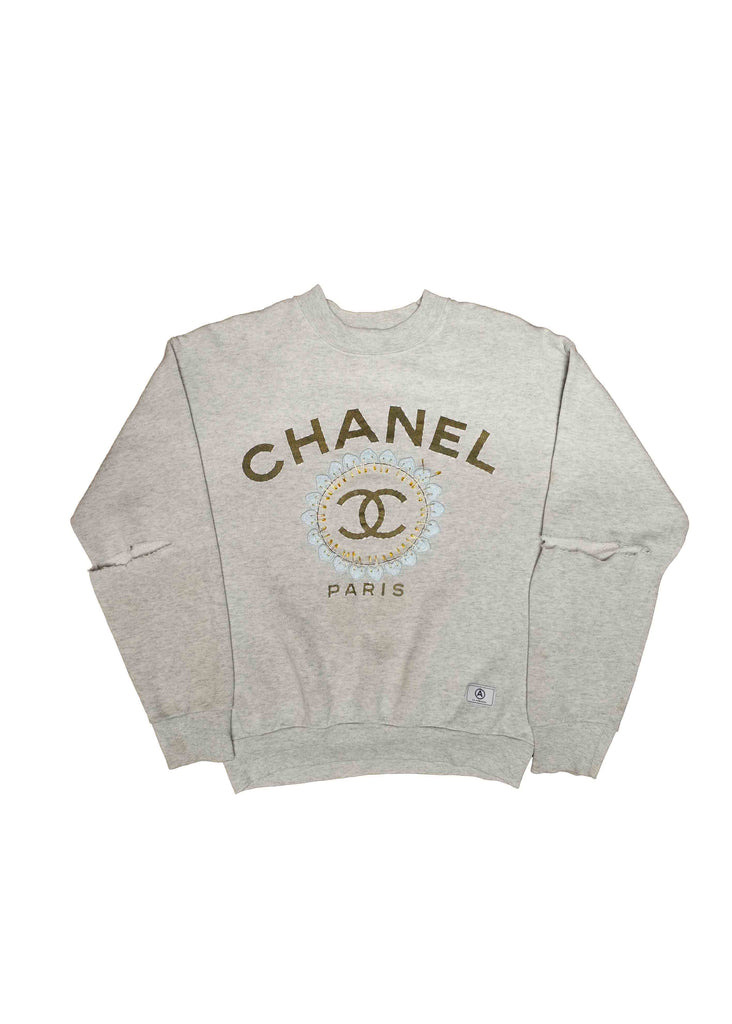 CHANEL GREY CREW NECK