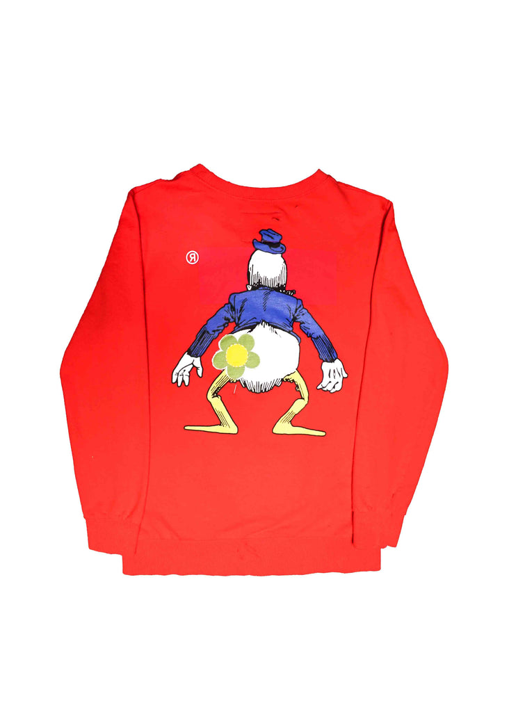 SUPREME // US ALTERATION RED CREW NECK WITH DESIGN
