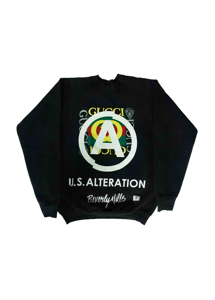 US ALTERATION BLACK CREW NECK