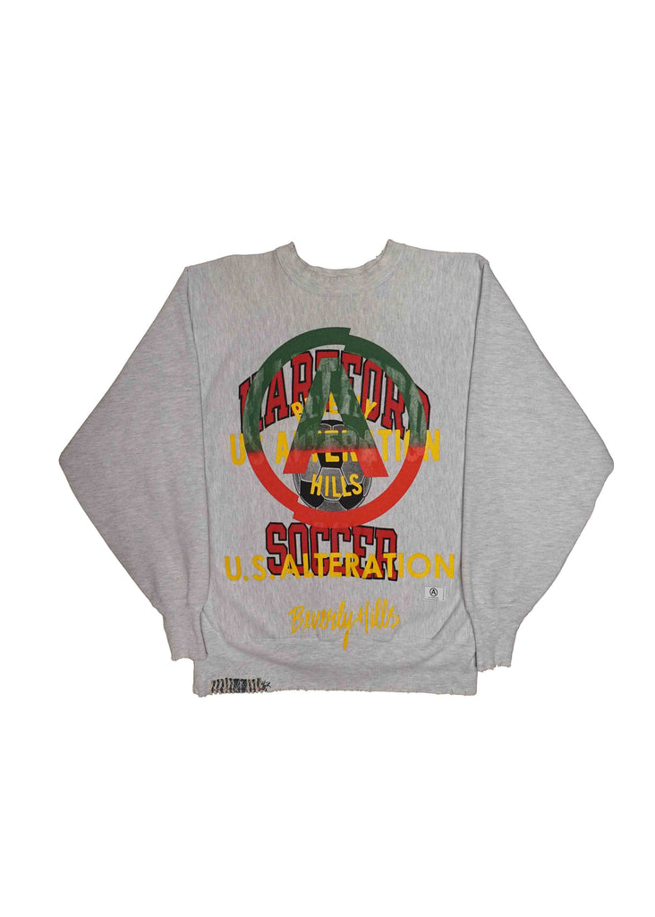 HARTFORD SOCCER  // US ALTERATION GREY CREW NECK