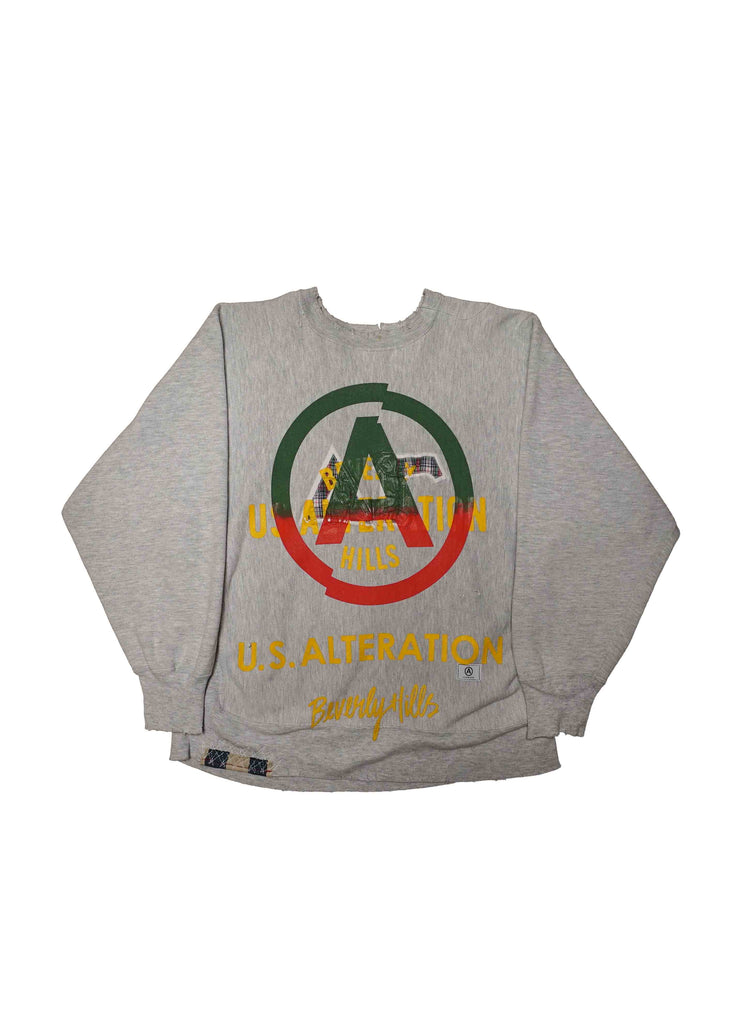 COLLEGE  // US ALTERATION GREY CREW NECK
