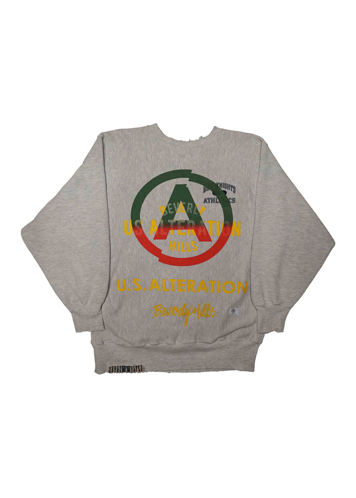 KNIGHTS ATHLETICS // US ALTERATION GREY CREW NECK
