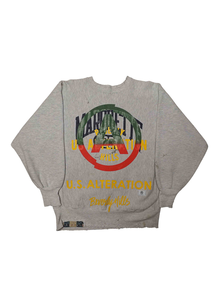 COLLEGIATE / US ALTERATION GREY CREW NECK