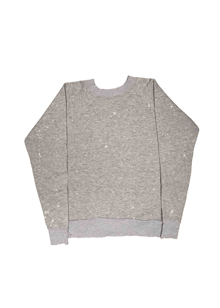 GREY MICKEY MOUSE CREW NECK // US ALTERATION WHITE SCREEN PRINT