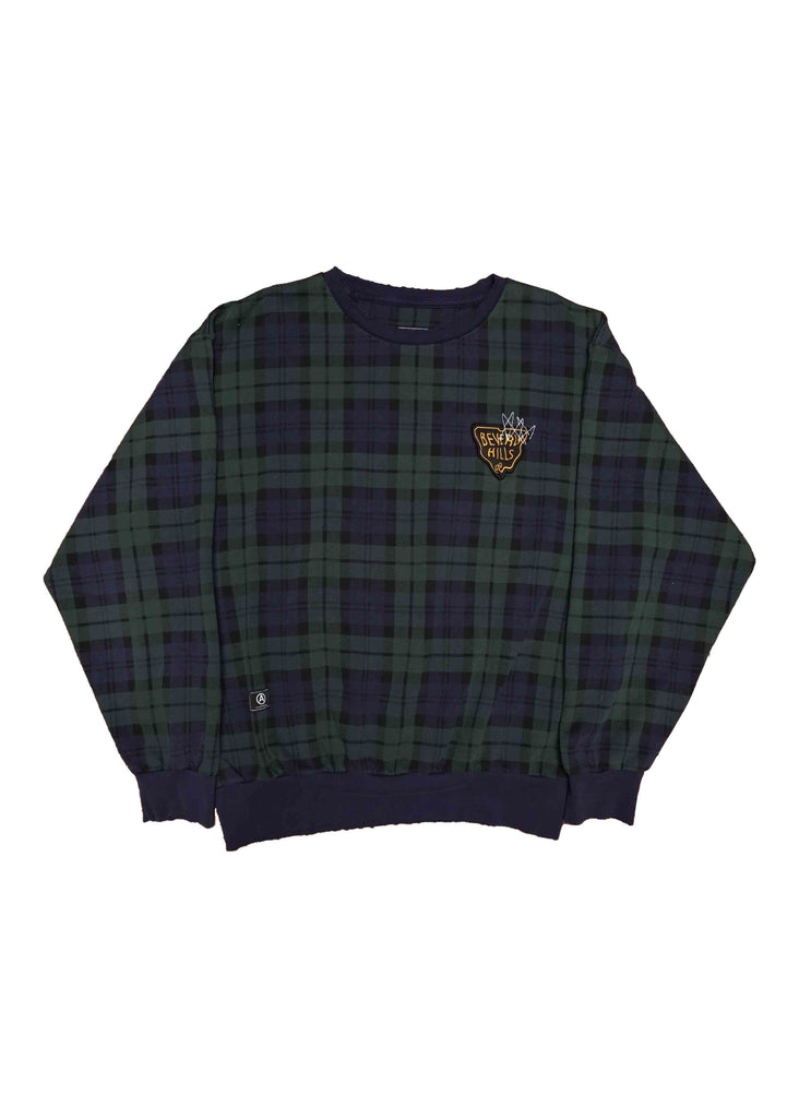 PLAID CREW NECK