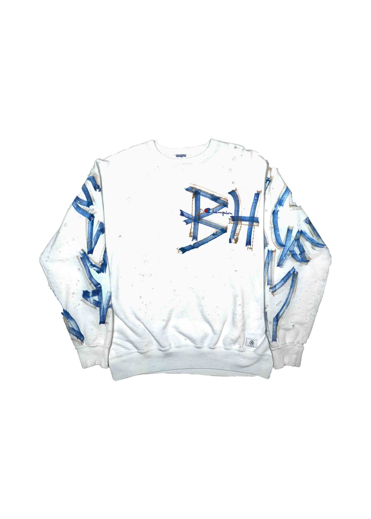 BEVERLY HILLS WHITE CREW NECK