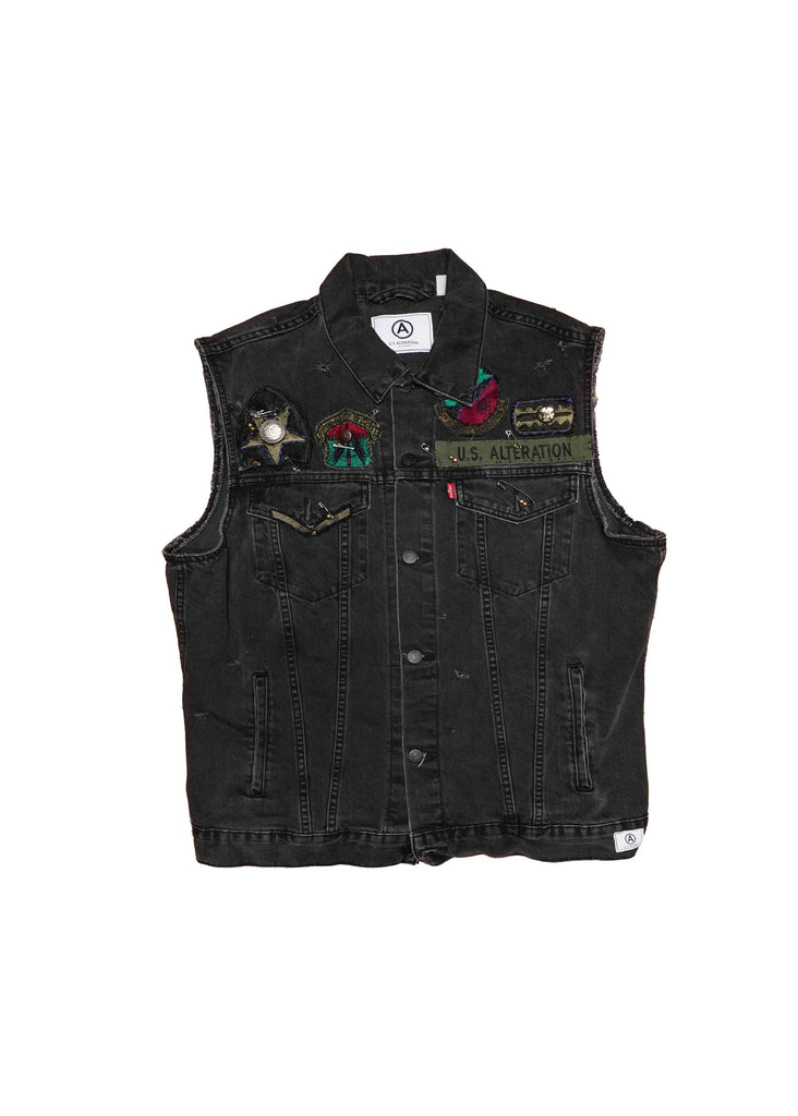 US ALTERATION // BLACK DENIM VEST