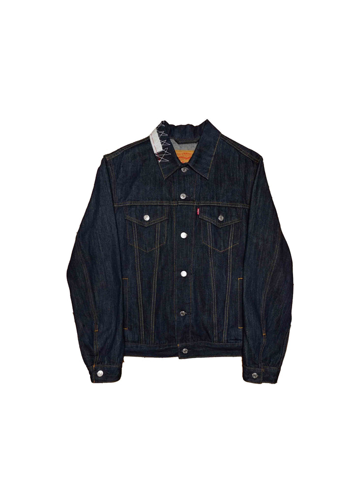 US ALTERATION // DENIM JACKET WITH GRAPHICS