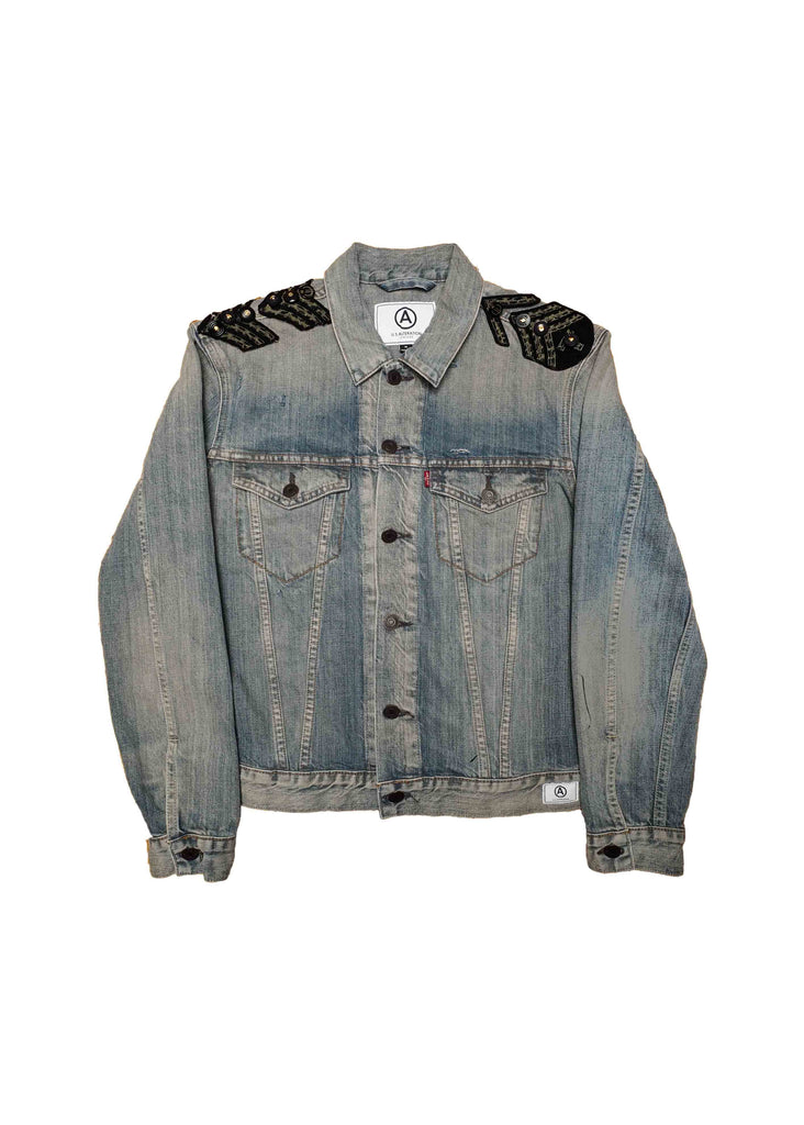 US ALTERATION DENIM BAND JACKET