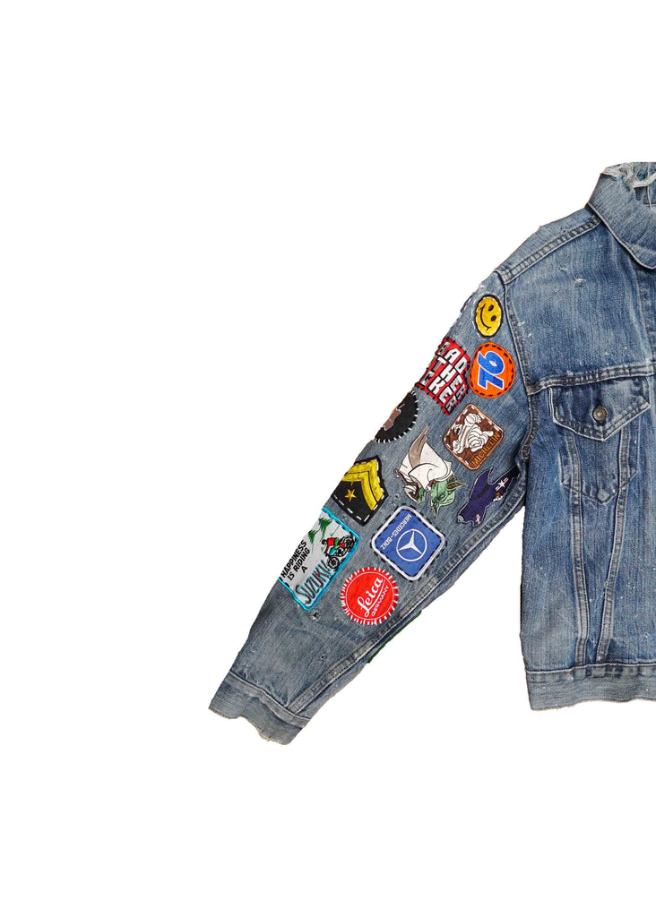 US ALTERATION // DENIM JACKET WITH PATCHES