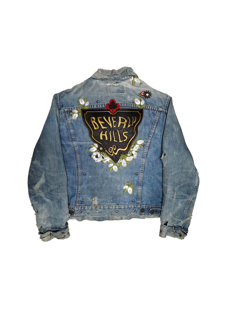US ALTERATION // DISTRESSED DENIM JACKET