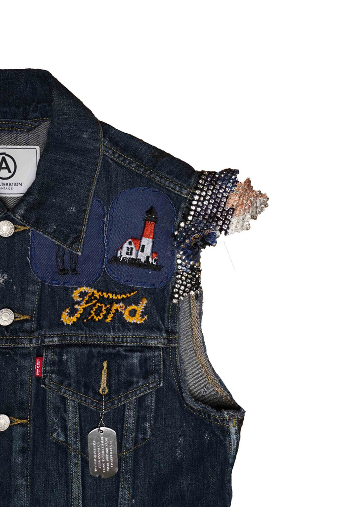US ALTERATION TOM FORD DENIM VEST