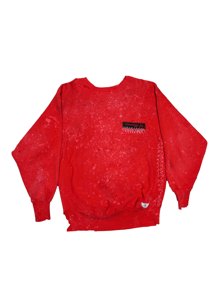 US ALTERATION // RED CREW NECK