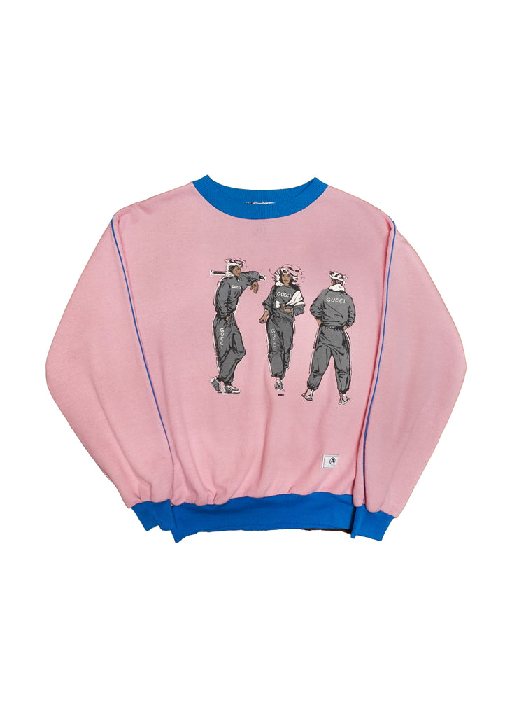 GUCCI PINK CREW NECK // US ALTERATION