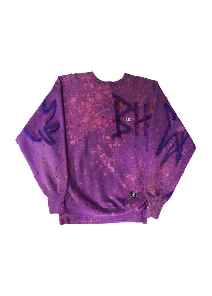 BEVERLY HILLS PURPLE CREW NECK