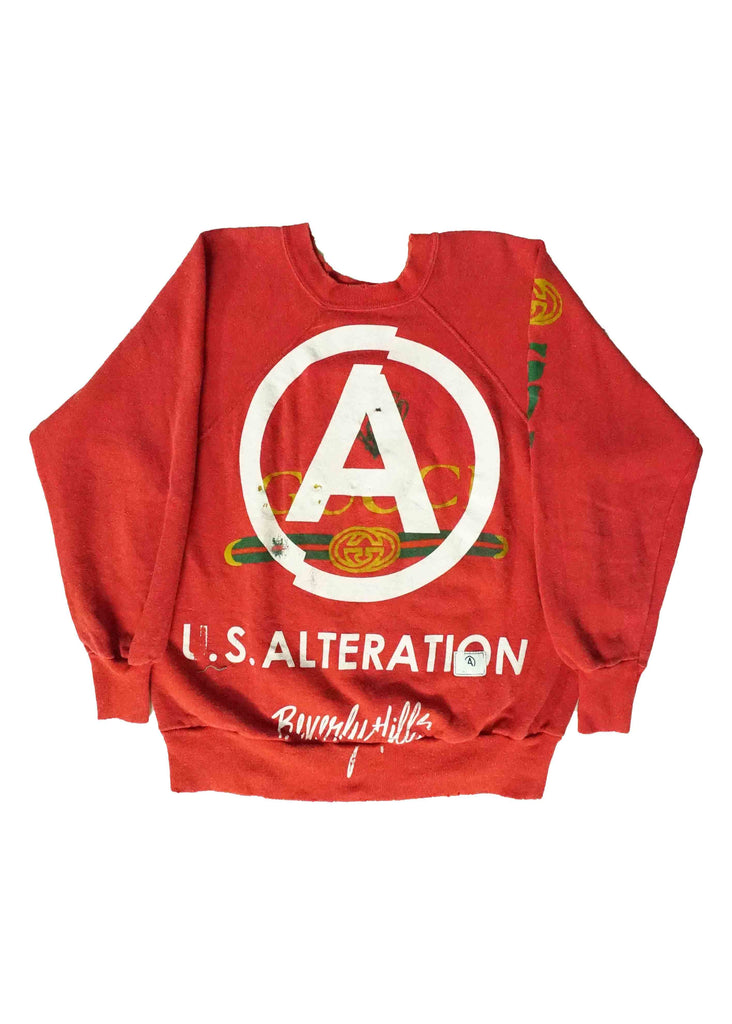 US ALTERATION RED CREW NECK // S