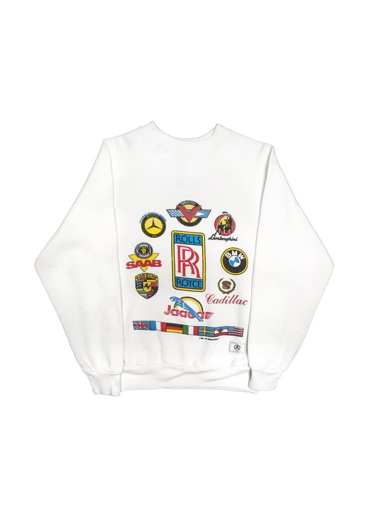 ROLLS ROYCE WHITE CREW NECK // US ALTERATION
