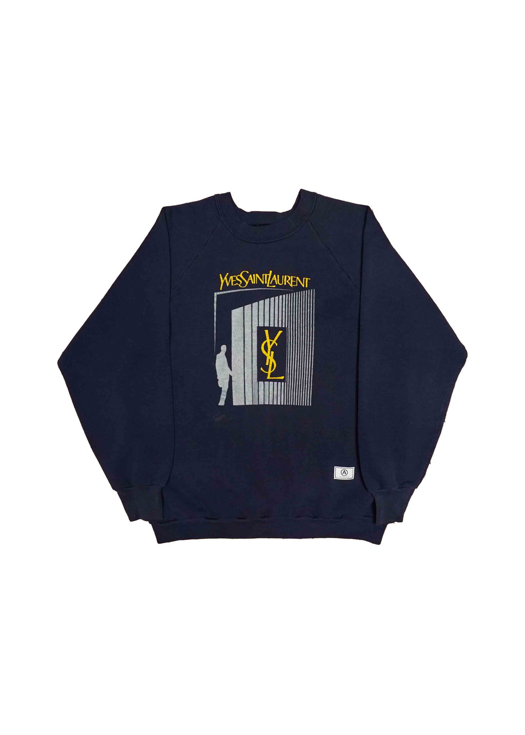 YSL NAVY CREW NECK // US ALTERATION