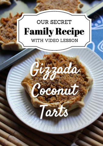 Gizzada Coconut Tarts – RECIPE with VIDEO DOWNLOAD