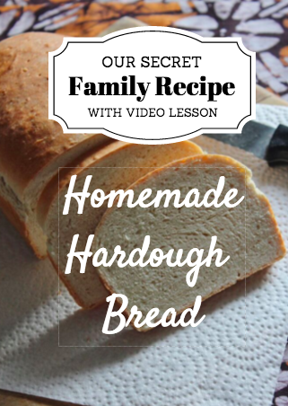 Homemade Hardough Bread – RECIPE with VIDEO DOWNLOAD