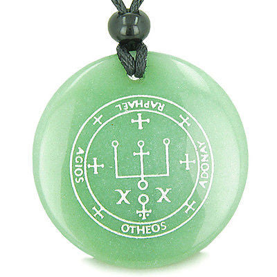 Sigil of the Archangel Raphael Magical Amulet Amulet Green Aventurine Magic Gems