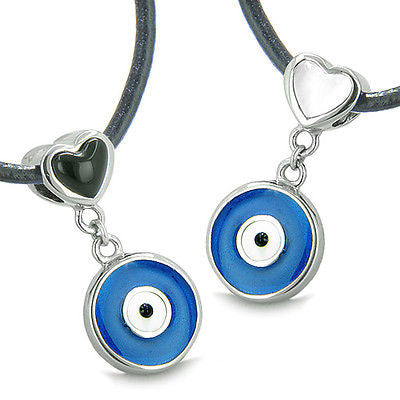 Amulets Evil Eye Charms Reversible Double Lucky Love Couple or Best Friends Set