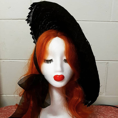 Mistress of the dark platter hat