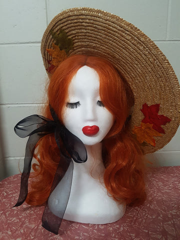 Autumn Leaves platter hat