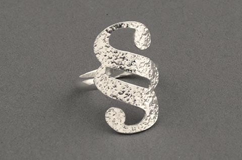 Curved Ligature Ring