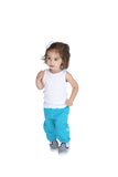 FP kids fabliving fleece pant (pool blue/white)