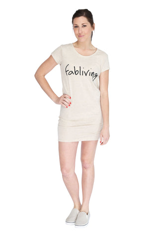 fabliving eco-jersey dress (eco stone/black)