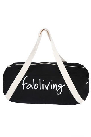 FP fabliving cotton weekender bag (black/natural)