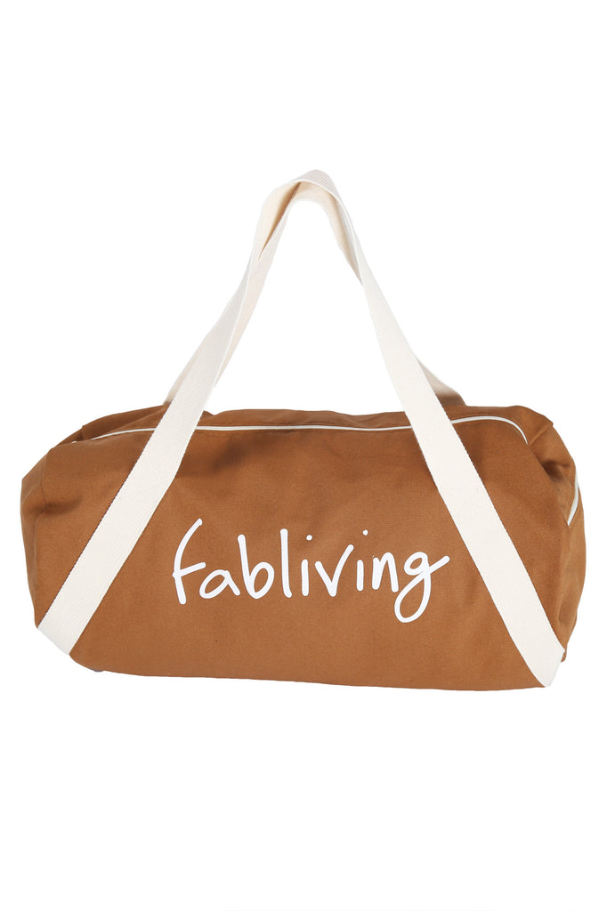 FP fabliving cotton weekender bag (camel/natural)