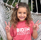 "FP kids election ""Biden For President"" tee (white/red)"