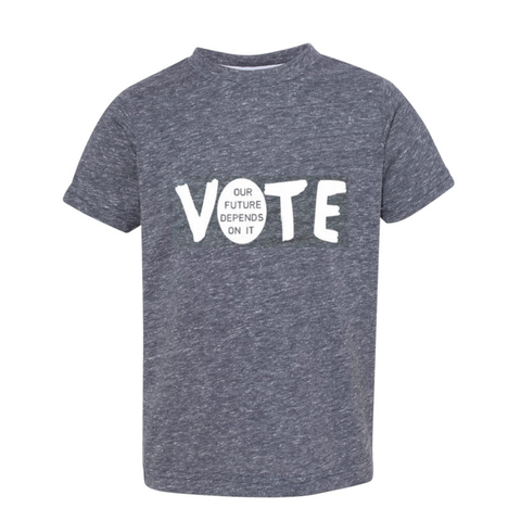 "fabulous people election crewneck ""Vote"" tee (white/heather grey)"