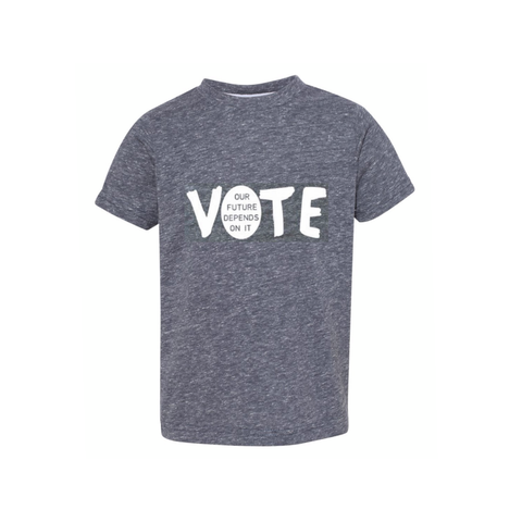 "FP kids election ""Vote"" tee (white/navy grey)"