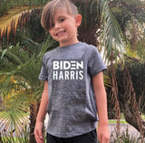"FP kids election ""Biden Harris"" tee (white/navy grey)"