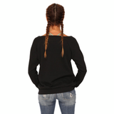 "fabulous people election off-the-shoulder ""vote"" sweatshirt (black)"