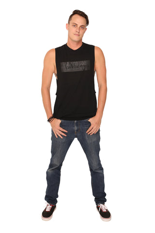 fabliving block muscle tee (black/black)