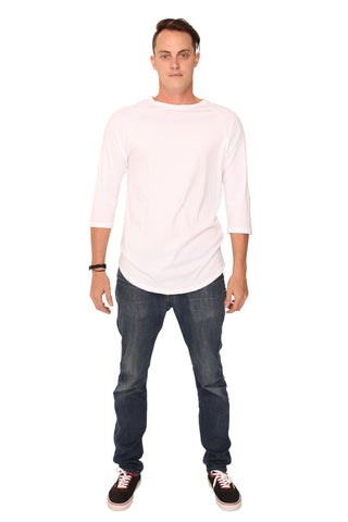 fabulous people solid baseball tee (white)