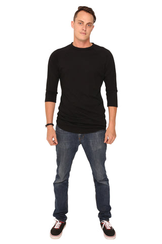 fabulous people solid baseball tee (black)