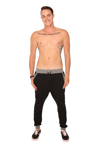 fabulous people solid jogger (black and grey)