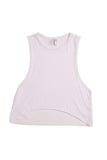 fabulous people women's crop muscle tee (white)